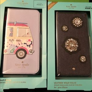 Kate Spade iphone X, XS x 2 cases